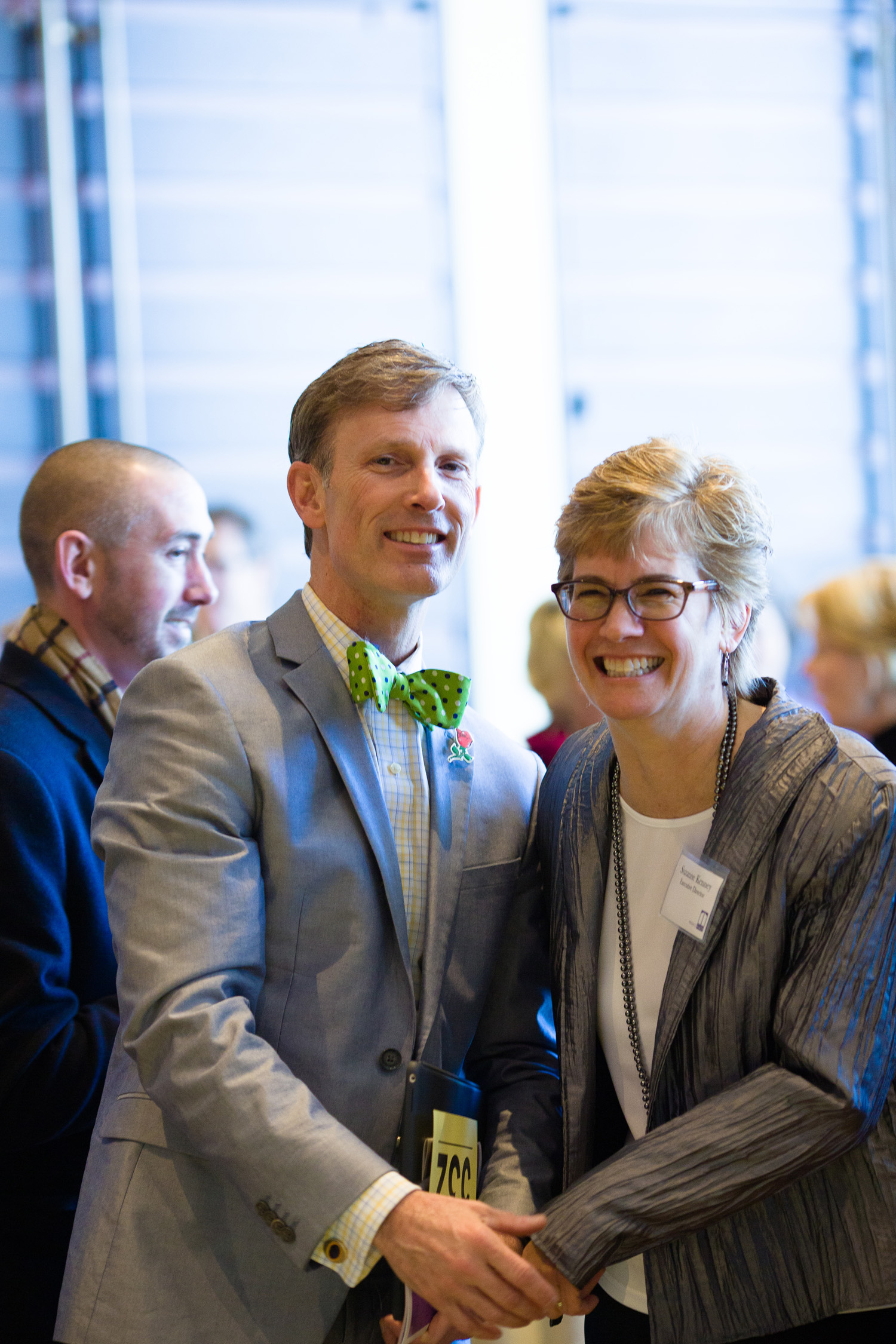 Emcee David Brown with Project Place Executive Director Suzanne Kenney