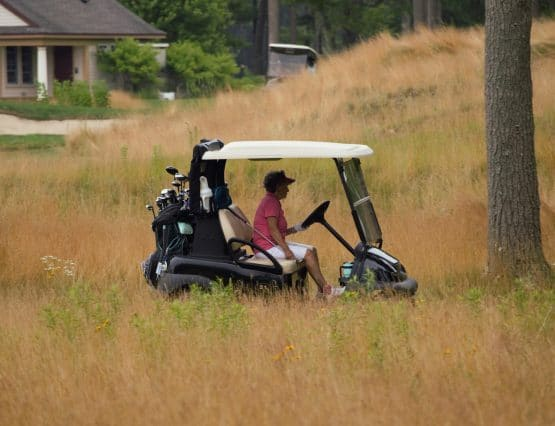 20th Annual Golf Tournament, Stranded Golf Cart