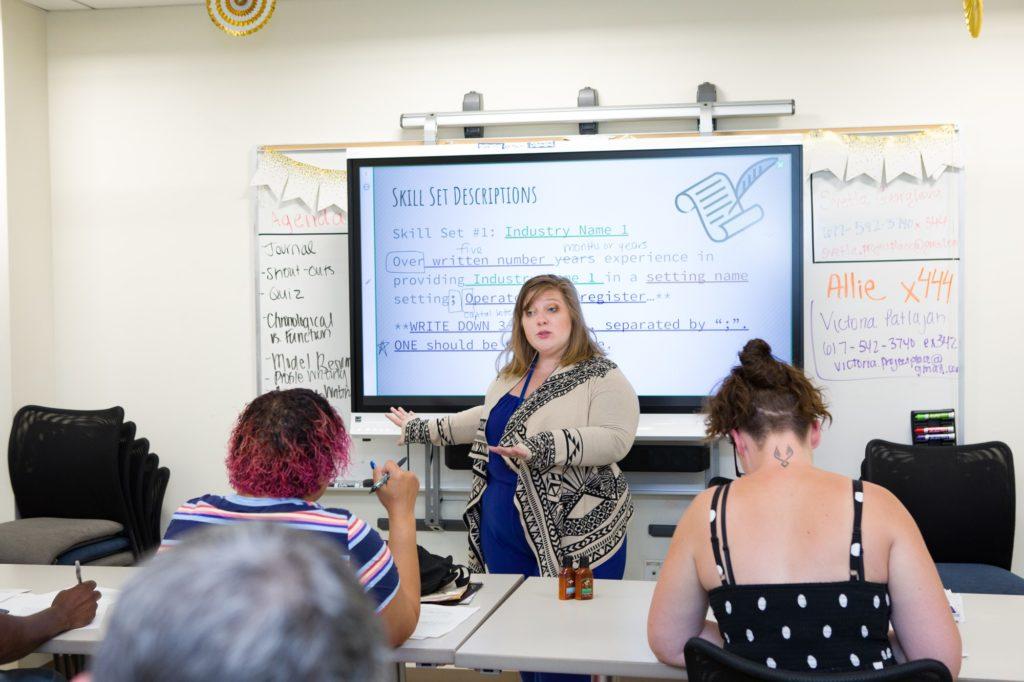 Victoria teaching Work Ready classes